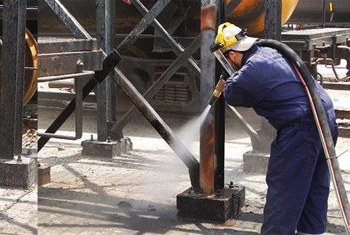 Abrasive Blasting Refinery Dustless Blasting Services - preparing surfaces