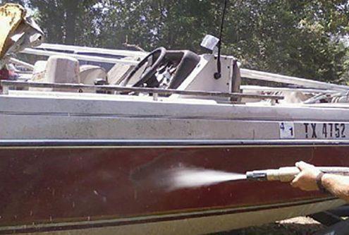 Boat - Abrasive Blasting Restoration Services Dustless Blasting