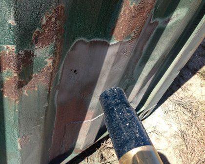Dustless Blasting Services Perth WA 3 - close up of abrasive blasting