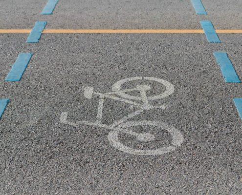 Paint Removal Using Dustless Blasting - Bike Lanes, Footpaths, Roads